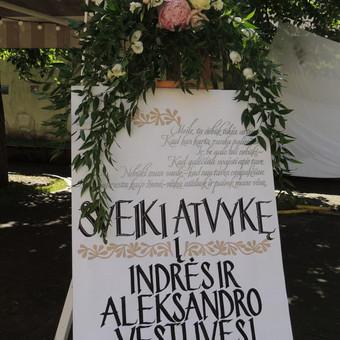 Vestuvių ir visų švenčių dekoravimas / Baltos rasos / Darbų pavyzdys ID 309365