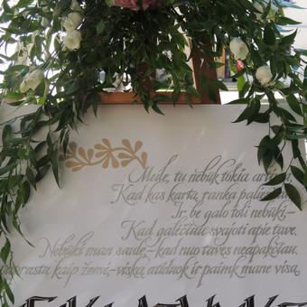 Vestuvių ir visų švenčių dekoravimas / Baltos rasos / Darbų pavyzdys ID 309373