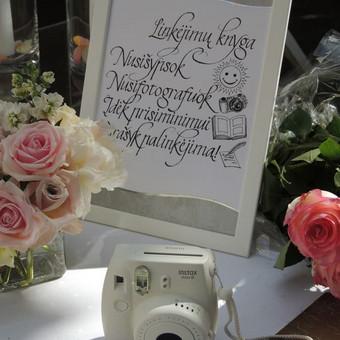 Vestuvių ir visų švenčių dekoravimas / Baltos rasos / Darbų pavyzdys ID 309383