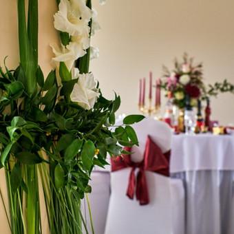Vestuvių ir visų švenčių dekoravimas / Baltos rasos / Darbų pavyzdys ID 309419