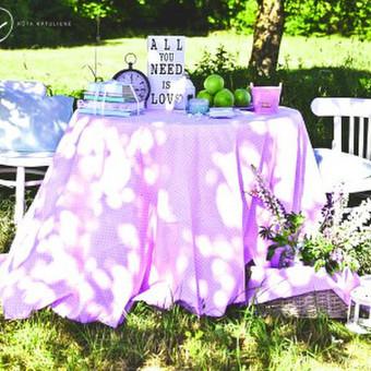 Vestuvių ir visų švenčių dekoravimas / Baltos rasos / Darbų pavyzdys ID 309425