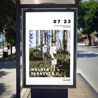 """""""Golden Parazyth"""" koncerto plakatas"""