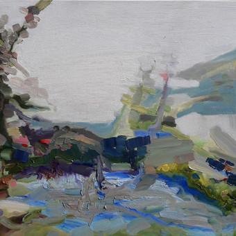 """""""Rugpjūčio peizažas"""" 60 x 75 al.dr. Parduodamas"""