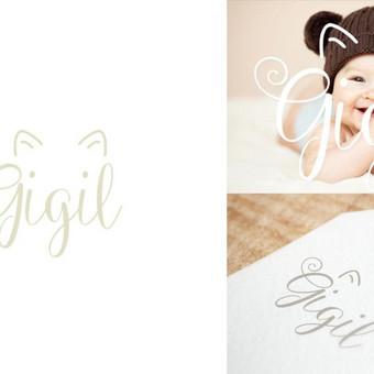 """Logotipas  """"Gigil"""" - rankų darbo siuviniai kūdikiams ir mažiems vaikams"""
