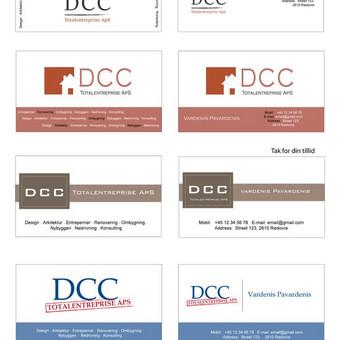 Klientas kreipėsi su prašymu sukurti logotipą ir sumaketuoti vizitines. Pateikiamas klientui siunčiamo pasiūlymo pavyzdys. Kliento veikla - remonto/statybos darbai Danijoje.