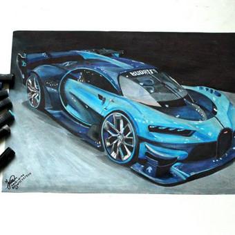 Automobilių ir kitų liustracijų piešimas / Justinas Kyga / Darbų pavyzdys ID 314771