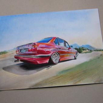 Automobilių ir kitų liustracijų piešimas / Justinas Kyga / Darbų pavyzdys ID 314775