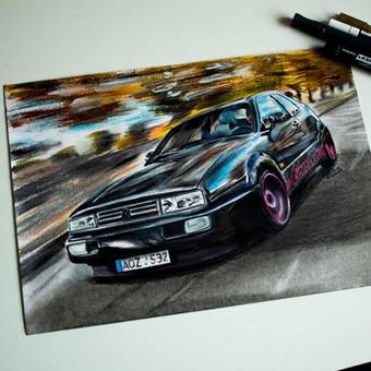 Automobilių ir kitų liustracijų piešimas / Justinas Kyga / Darbų pavyzdys ID 314789