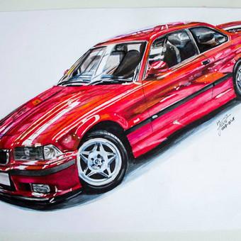 Automobilių ir kitų liustracijų piešimas / Justinas Kyga / Darbų pavyzdys ID 314791