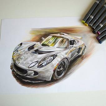 Automobilių ir kitų liustracijų piešimas / Justinas Kyga / Darbų pavyzdys ID 314795