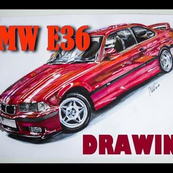 Automobilių ir kitų liustracijų piešimas / Justinas Kyga / Darbų pavyzdys ID 314803