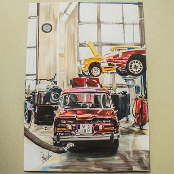 Automobilių ir kitų liustracijų piešimas / Justinas Kyga / Darbų pavyzdys ID 314813