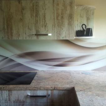 Stiklo sienelė virtuvėje su foto vaizdu / Stiklo Spalvos / Darbų pavyzdys ID 318939