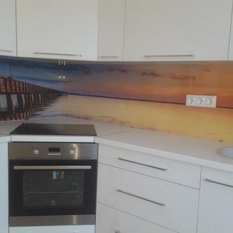 Stiklo sienelė virtuvėje su foto vaizdu / Stiklo Spalvos / Darbų pavyzdys ID 318949