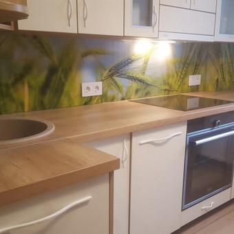 Stiklo sienelė virtuvėje su foto vaizdu / Stiklo Spalvos / Darbų pavyzdys ID 318953