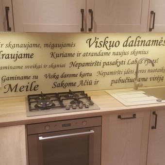 Stiklo sienelė virtuvėje su foto vaizdu / Stiklo Spalvos / Darbų pavyzdys ID 318955