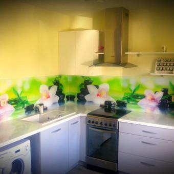 Stiklo sienelė virtuvėje su foto vaizdu / Stiklo Spalvos / Darbų pavyzdys ID 318967