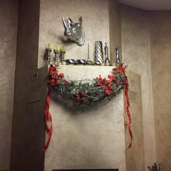 Sienų, lubų, židinių dekoravimas tinku / Margarita / Darbų pavyzdys ID 319273