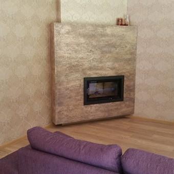 Sienų, lubų, židinių dekoravimas tinku / Margarita / Darbų pavyzdys ID 319303