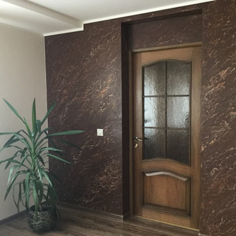 Sienų, lubų, židinių dekoravimas tinku / Margarita / Darbų pavyzdys ID 319323