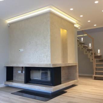 Sienų, lubų, židinių dekoravimas tinku / Margarita / Darbų pavyzdys ID 319339