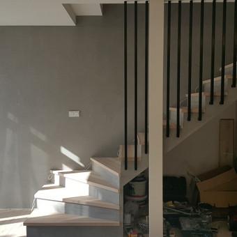 Laiptų apdaila- dekoratyvinis betonas- rezultatas