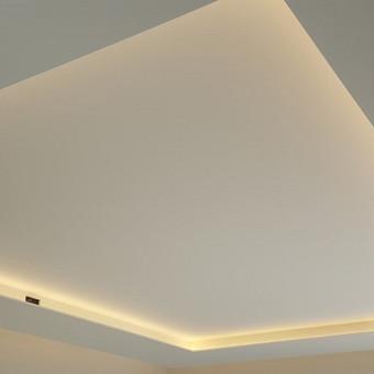 Pagal klientų norus įrengiamas apšvietimas lubose