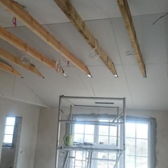 Balkinių lubų apdailos darbai- procesas
