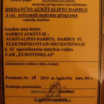 Elektra Vilniuje( Elektra, automatika, silpnos srovės) / Robertas Az. / Darbų pavyzdys ID 330005