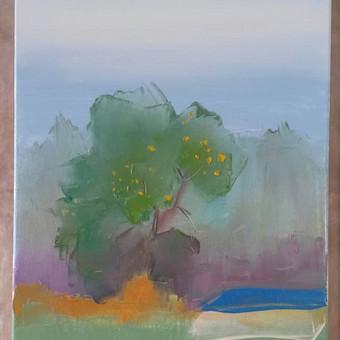 Obelis rūke. Drobė 30x40 cm aliejiniais dažais. Parduodamas. 30 eurų