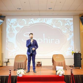 """Grožio priemonių ženklo """"Sapphira"""" pristatymas Lietuvoje lietuvių/anglų kalbomis"""
