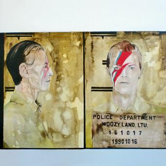 """Darbas pagal užsakymą. """"David Bowie"""". Drobė, aliejus. 50x70cm. 2017m."""