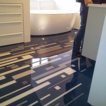 Tarkett (pvc)  ir  epoksidinių liejamos grindų dengimas. / Robertas Busnevas / Darbų pavyzdys ID 339849