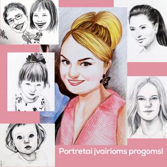 Portretai, tapyba, piešimas / Monika / Darbų pavyzdys ID 341117