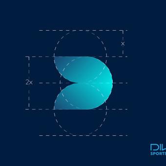 DIWA sportswear - naujo sportinių drabužių prekinio ženklo sukūrimas.   |   Logotipų kūrimas - www.glogo.eu - logo creation.