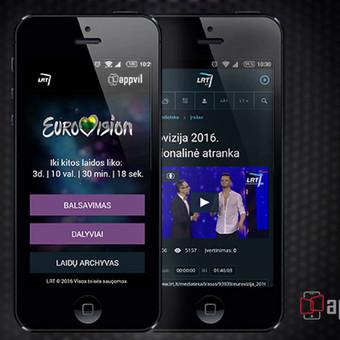 Mobili programėlė, skirta Eurovizijos atrankos dainų balsavimui.