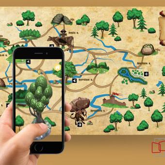Sukurta ETNO kilimo mobili aplikacija su interaktyviais objektais, bei kilimo dizainas. Edukacinis projektas, skirtas Aukštaitijos žinomiems objektams pažinti, legendoms išklausyti, bei žaisti.