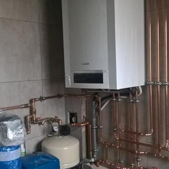 šildymo sistemos įrengimas