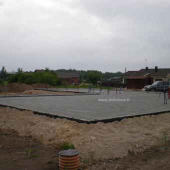 Plokštuminių pamatai, pagrindo paruošimas, betonavimas / MB Šilti pamatai / Darbų pavyzdys ID 355079
