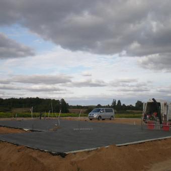 Plokštuminių pamatai, pagrindo paruošimas, betonavimas / MB Šilti pamatai / Darbų pavyzdys ID 355081