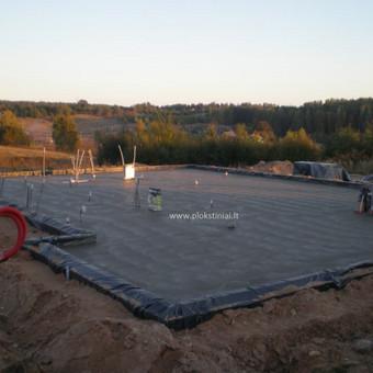 Plokštuminių pamatai, pagrindo paruošimas, betonavimas / MB Šilti pamatai / Darbų pavyzdys ID 355083