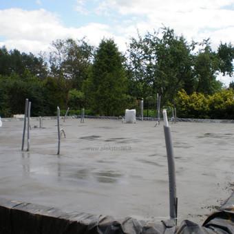 Plokštuminių pamatai, pagrindo paruošimas, betonavimas / MB Šilti pamatai / Darbų pavyzdys ID 355087