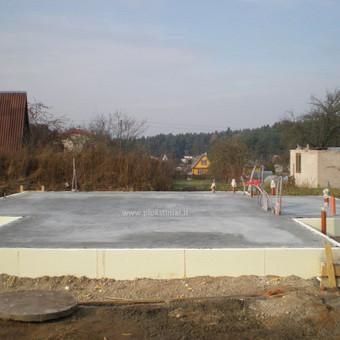 Plokštuminių pamatai, pagrindo paruošimas, betonavimas / MB Šilti pamatai / Darbų pavyzdys ID 355089