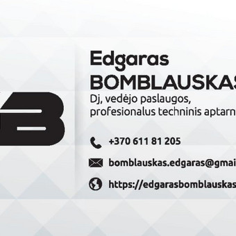 Profesionalus Dj/Vedėjas. Garso ir apšvietimo įranga / Edgaras Bomblauskas / Darbų pavyzdys ID 356399