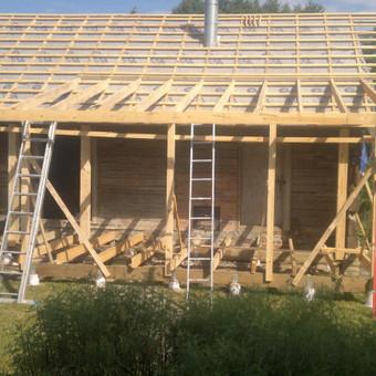 Karkasiniu namu statyba remontas  renovavimas Stogu dengimas / ovidijus / Darbų pavyzdys ID 357521