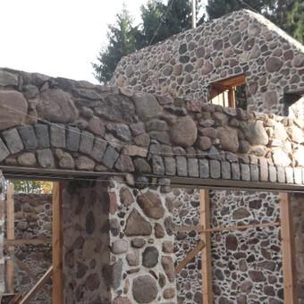Akmenskaldys zidiniu meistras akmenu apdaila / Vidmantas Kazlauskis / Darbų pavyzdys ID 358363