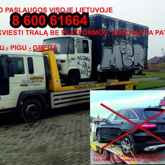Technine Pagalba  kelyje automobilių pervežimas / Arunas Einingis / Darbų pavyzdys ID 358491