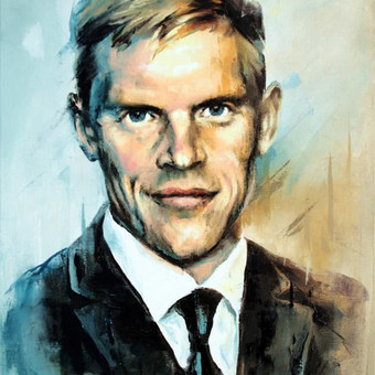 """Paveikslas """"JK17-1024 Portrait"""", aliejus- drobė, 40x60cm"""