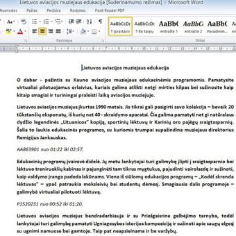 Tekstų kūrėja / Simona Deinytė / Darbų pavyzdys ID 367279
