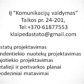 Pastatų ir inžinerinių tinklų projektavimas / IĮ Komunikacijų valdymas / Darbų pavyzdys ID 367915
